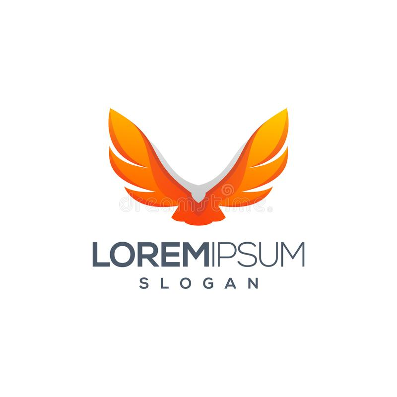 Дизайн логотипа орла готовый для использования бесплатная иллюстрация