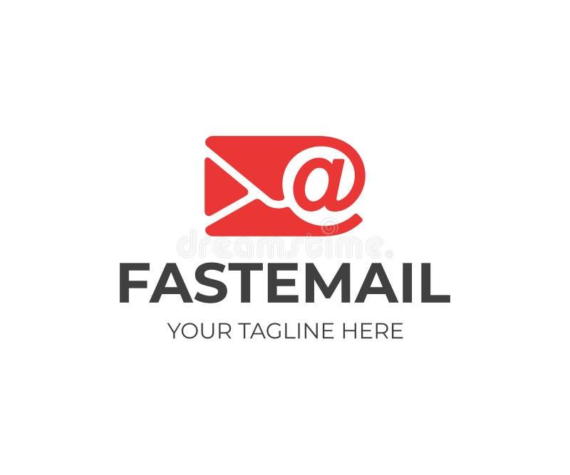 Дизайн логотипа письма почты Дизайн вектора конверта электронной почты иллюстрация вектора