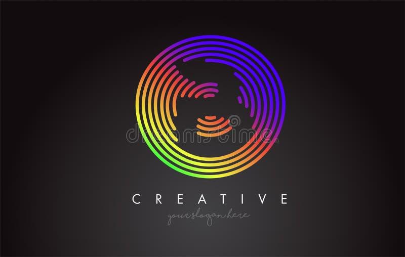 Дизайн логотипа письма b с красочными круглыми формами радуги Vibr бесплатная иллюстрация