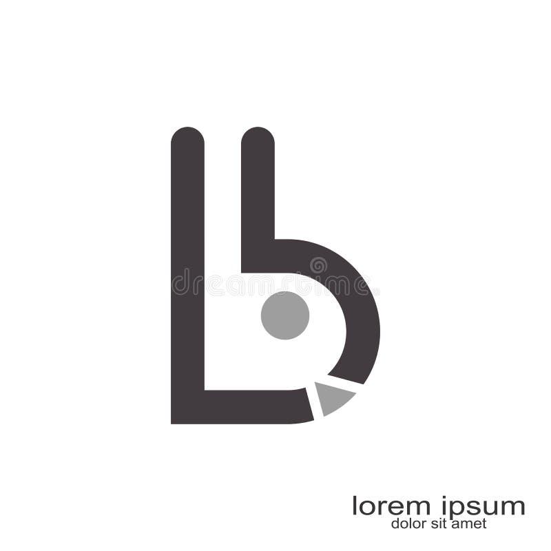 дизайн логотипа письма b иллюстрация вектора