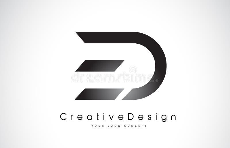 Дизайн логотипа письма ED e d Вектор l писем творческого значка современный бесплатная иллюстрация