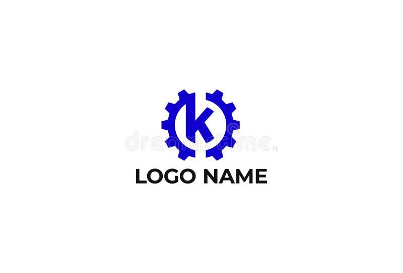 Дизайн логотипа письма k вектора иллюстрация штока