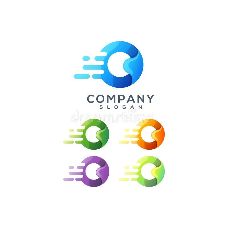 Дизайн логотипа письма o готовый для использования бесплатная иллюстрация