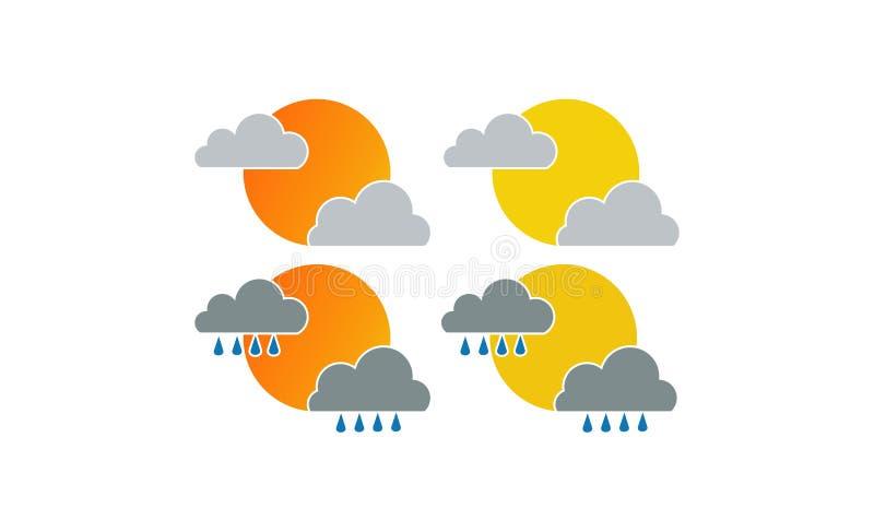 Дизайн логотипа погоды бесплатная иллюстрация