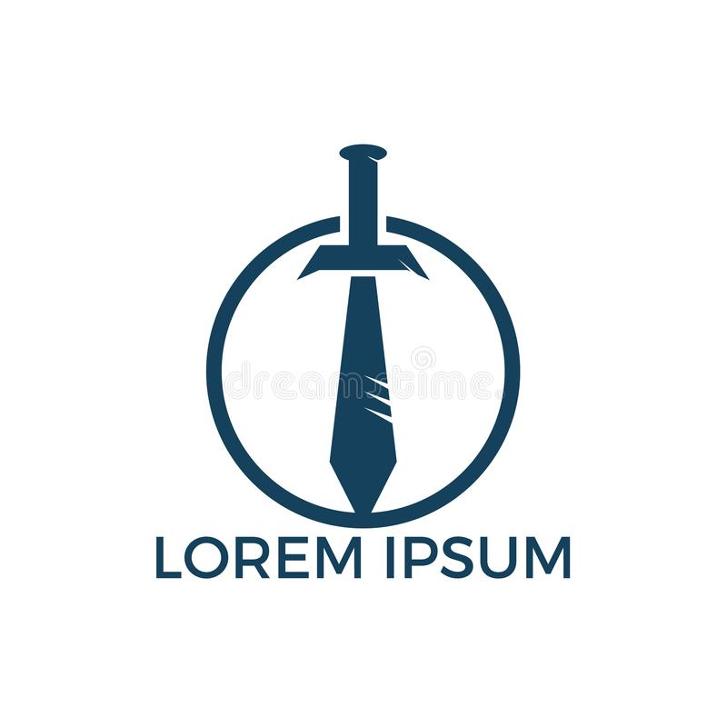 Дизайн логотипа попечителя шпаги бесплатная иллюстрация