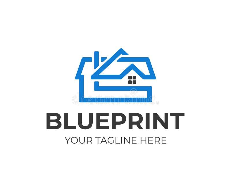 Дизайн логотипа проекта дома Дизайн вектора дизайна архитектуры иллюстрация вектора