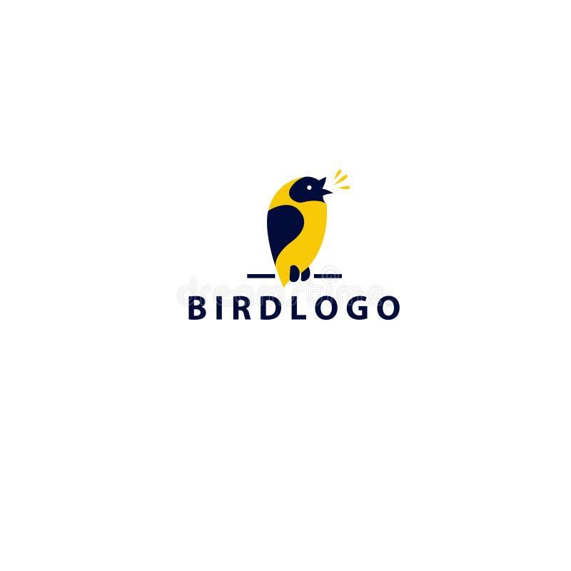 Дизайн логотипа птицы-- Иллюстрация вектора запаса иллюстрация вектора