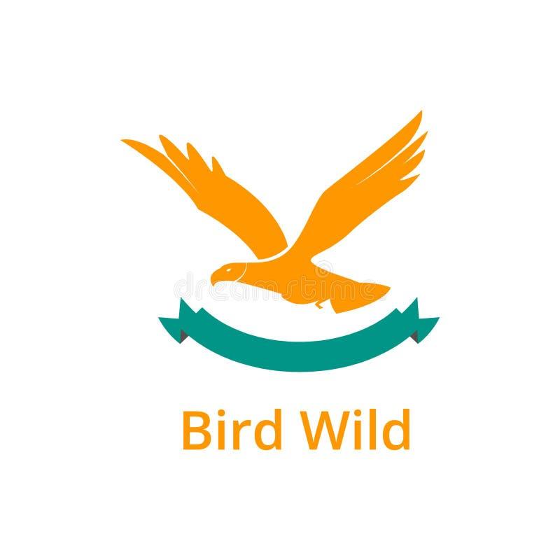 Дизайн логотипа птицы стоковая фотография