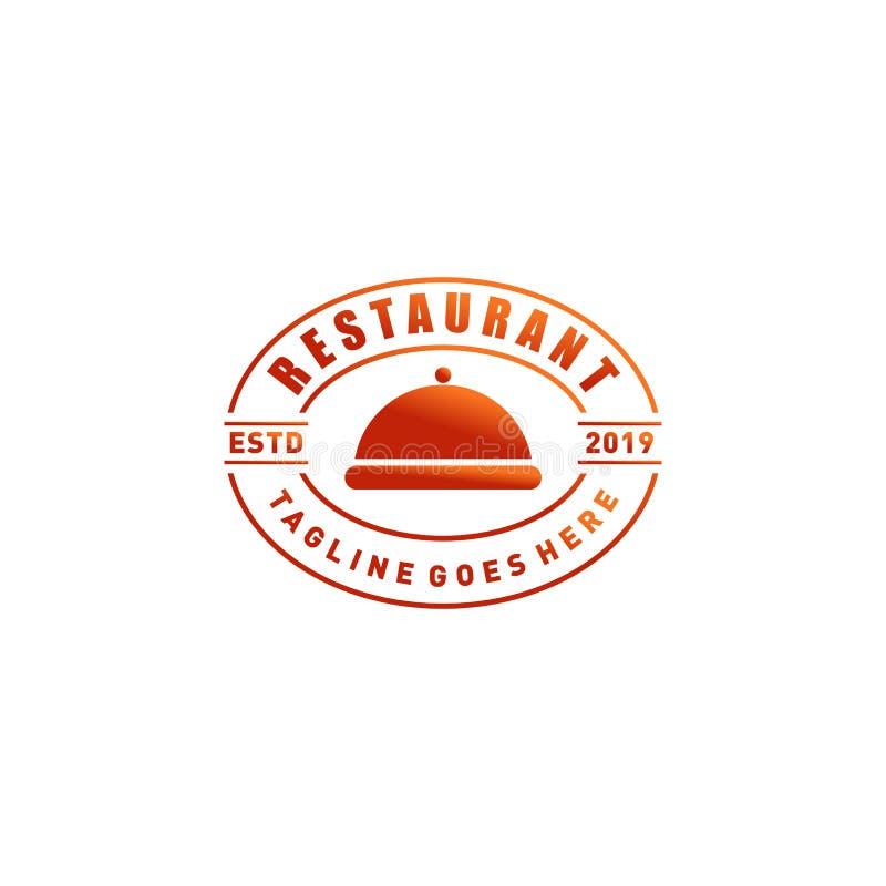Дизайн логотипа ресторана иллюстрация вектора