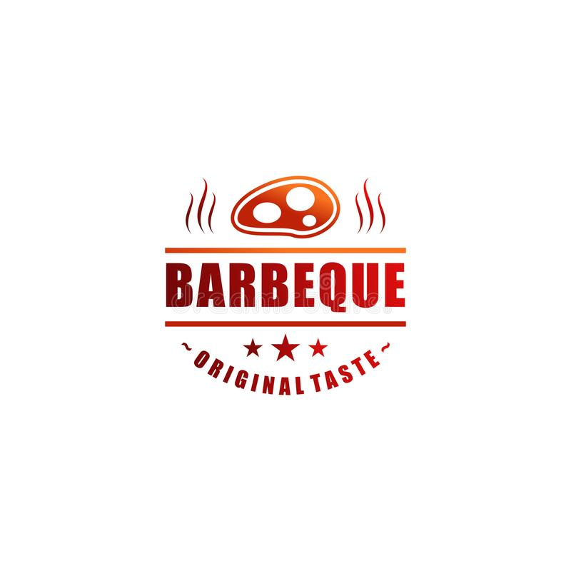 Дизайн логотипа ресторана иллюстрация штока