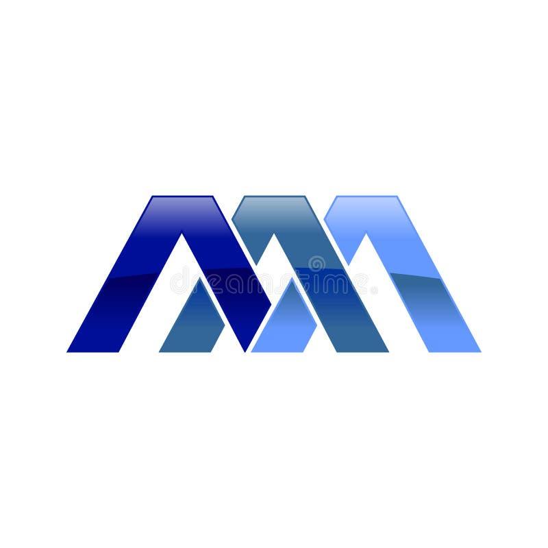 Дизайн логотипа символа инициала AAA иллюстрация штока