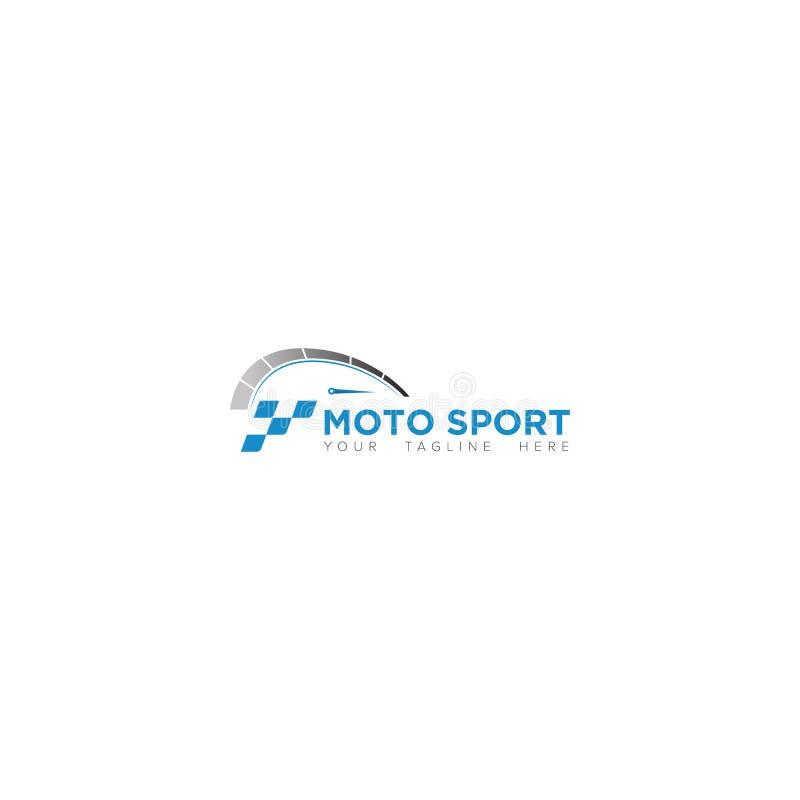 Дизайн логотипа спорта Moto чемпионата иллюстрация штока