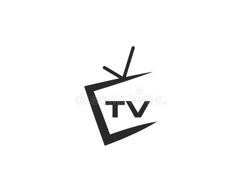 Дизайн логотипа ТВ иллюстрация вектора