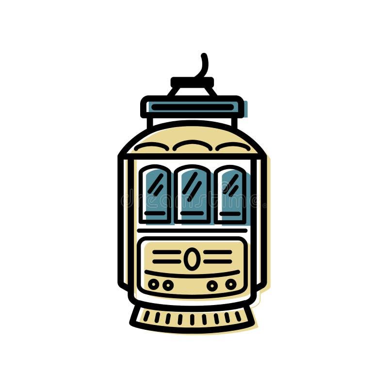 Дизайн логотипа трамвая бесплатная иллюстрация