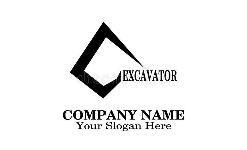 Дизайн логотипа экскаватора уникальный бесплатная иллюстрация