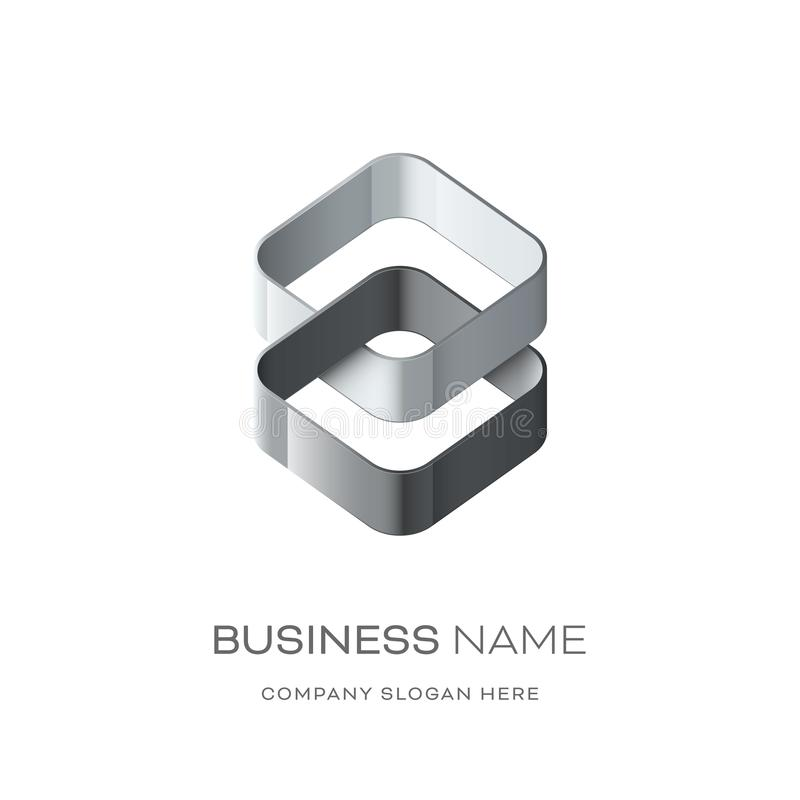 Дизайн логотипа Astract иллюстрация штока