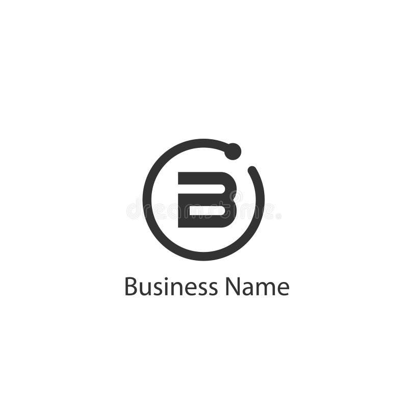 Дизайн логотипа b письма иллюстрация штока