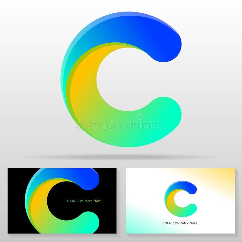 Дизайн логотипа c письма – красочный знак вектора бесплатная иллюстрация