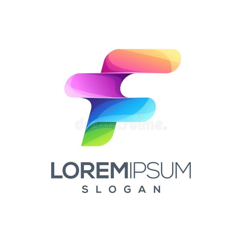 Дизайн логотипа f письма готовый для использования иллюстрация вектора