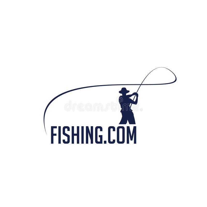 Дизайн логотипа Fihingcom стоковое изображение