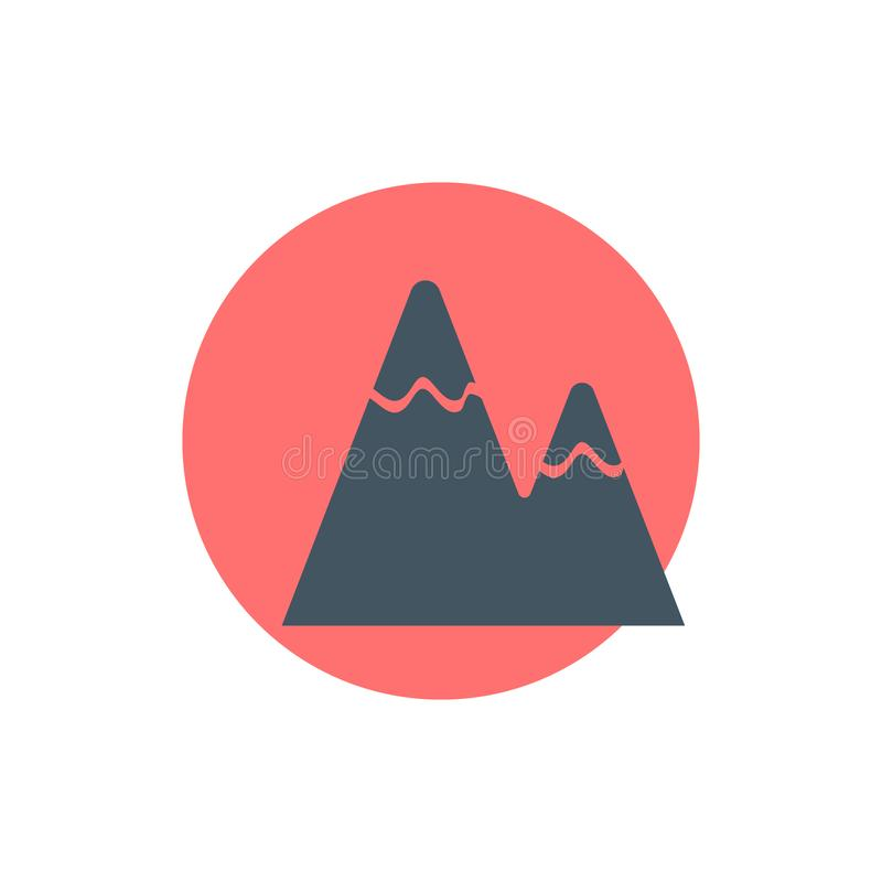 дизайн логотипа sun and mountain retro vintage Печатные и эмблемные аксессуары, джинсы, аксессуары Иллюстрация вектора иллюстрация штока