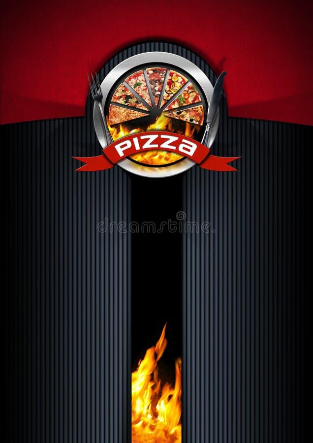 Дизайн меню пиццы бесплатная иллюстрация