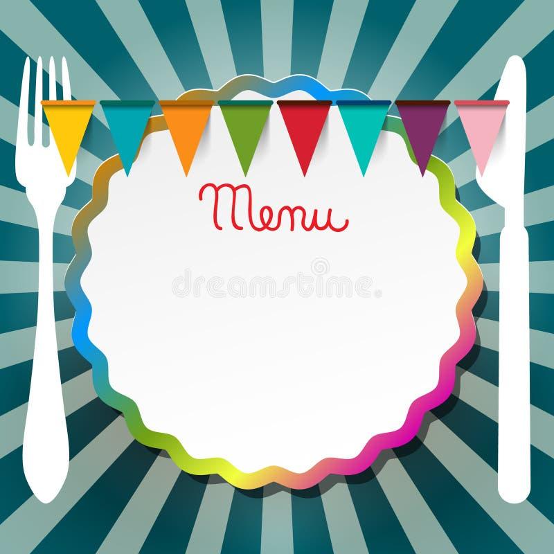 Дизайн меню ресторана или бистро ретро иллюстрация вектора