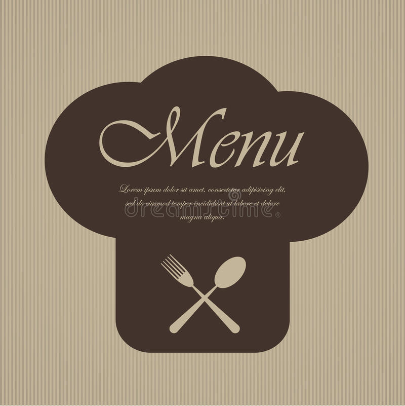 Дизайн меню ресторана иллюстрация вектора