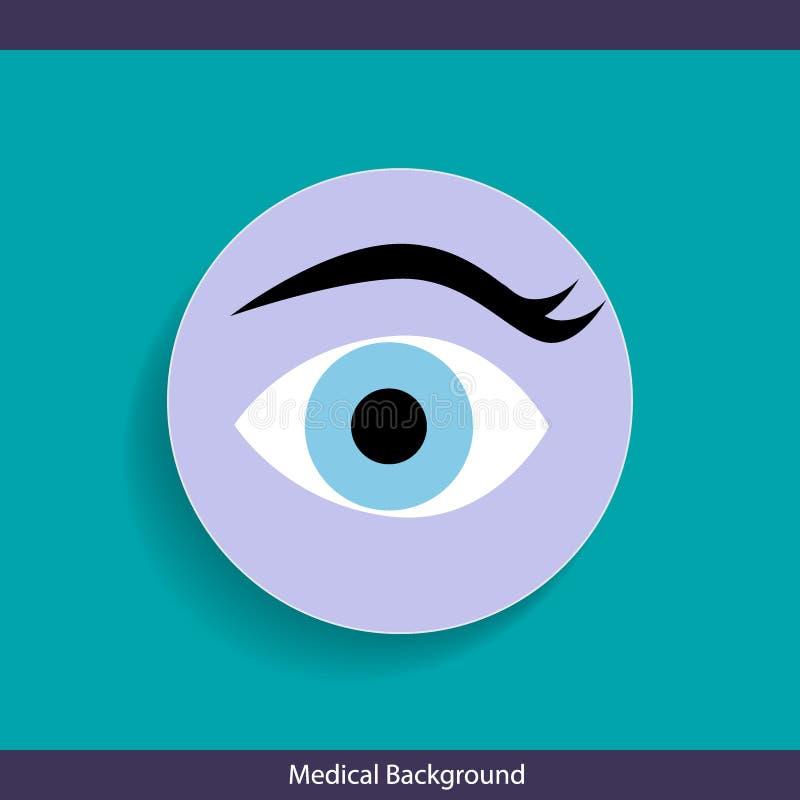 Дизайн медицинской предпосылки с глазом также вектор иллюстрации притяжки corel иллюстрация вектора