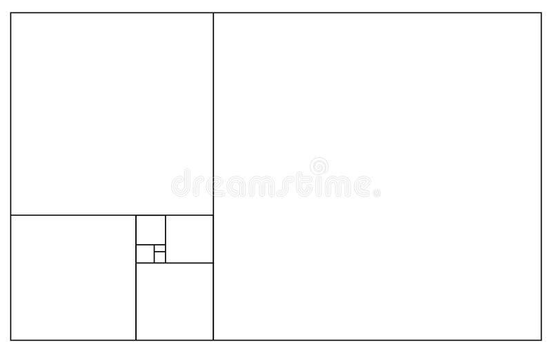 Дизайн минималистичного стиля Золотой коэффициент o Круги в золотой пропорции Футуристический дизайн o Значок вектора бесплатная иллюстрация