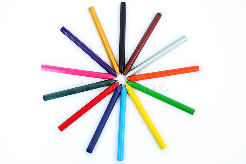 Дизайн много карандашей другого цвета стоковое фото rf