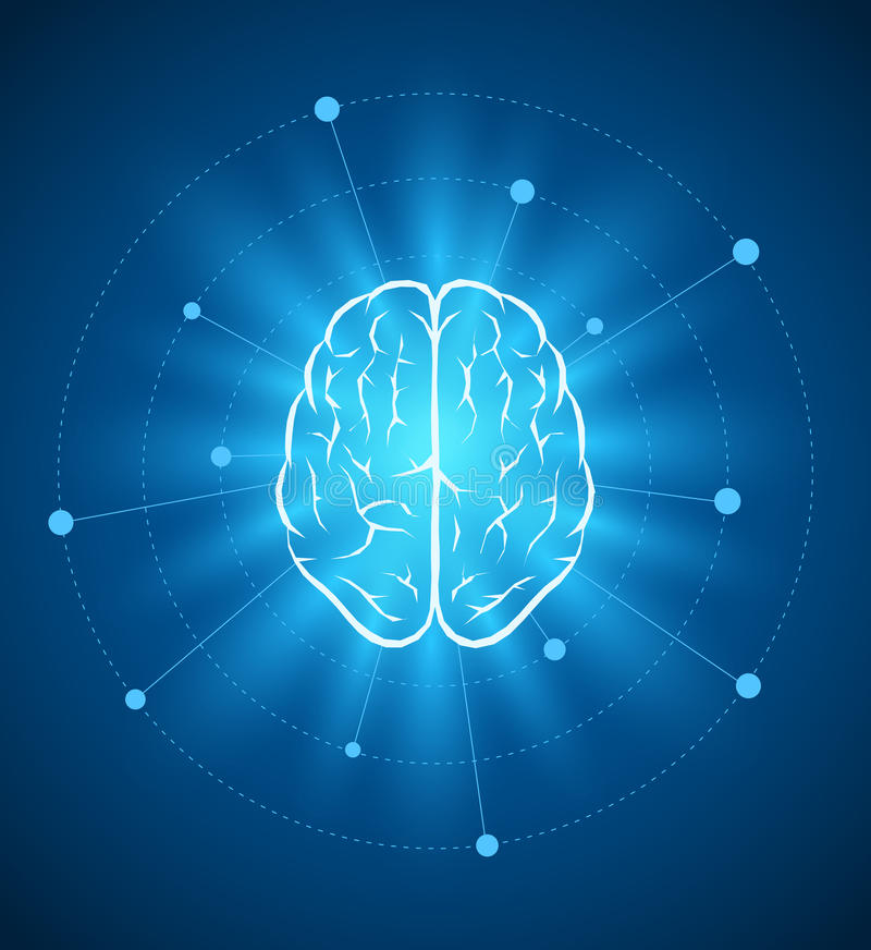Дизайн мозга иллюстрация вектора