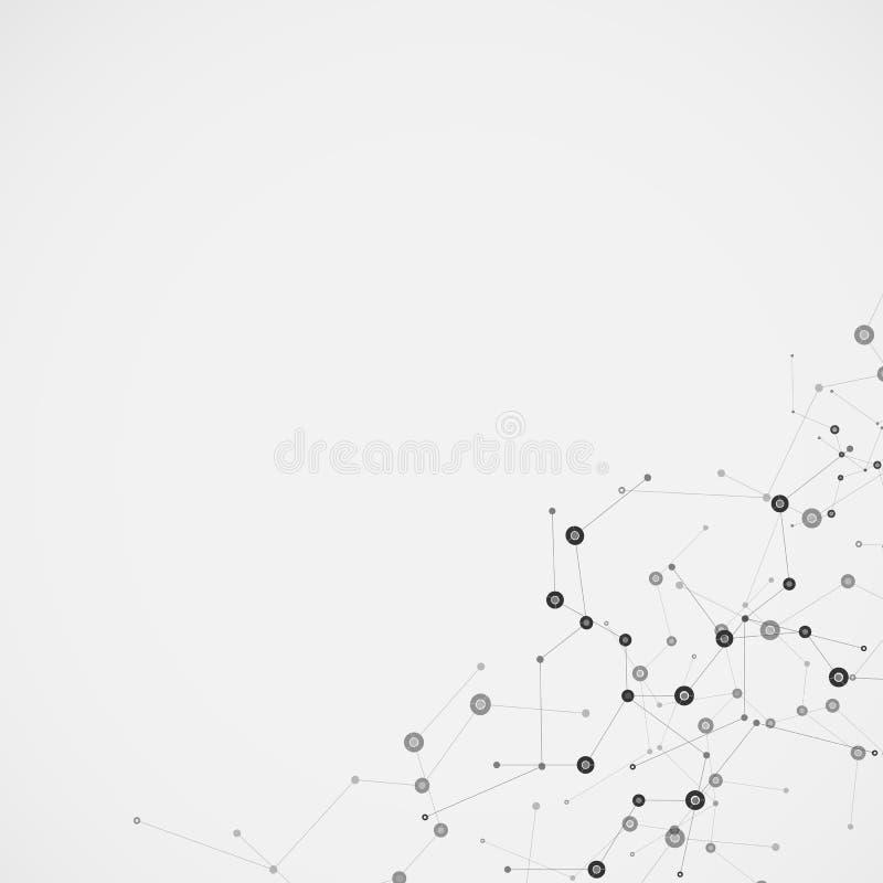 Дизайн молекулы науки Предпосылка вектора иллюстрация штока