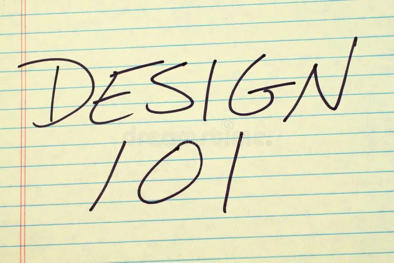 Дизайн 101 на желтой законной пусковой площадке иллюстрация штока