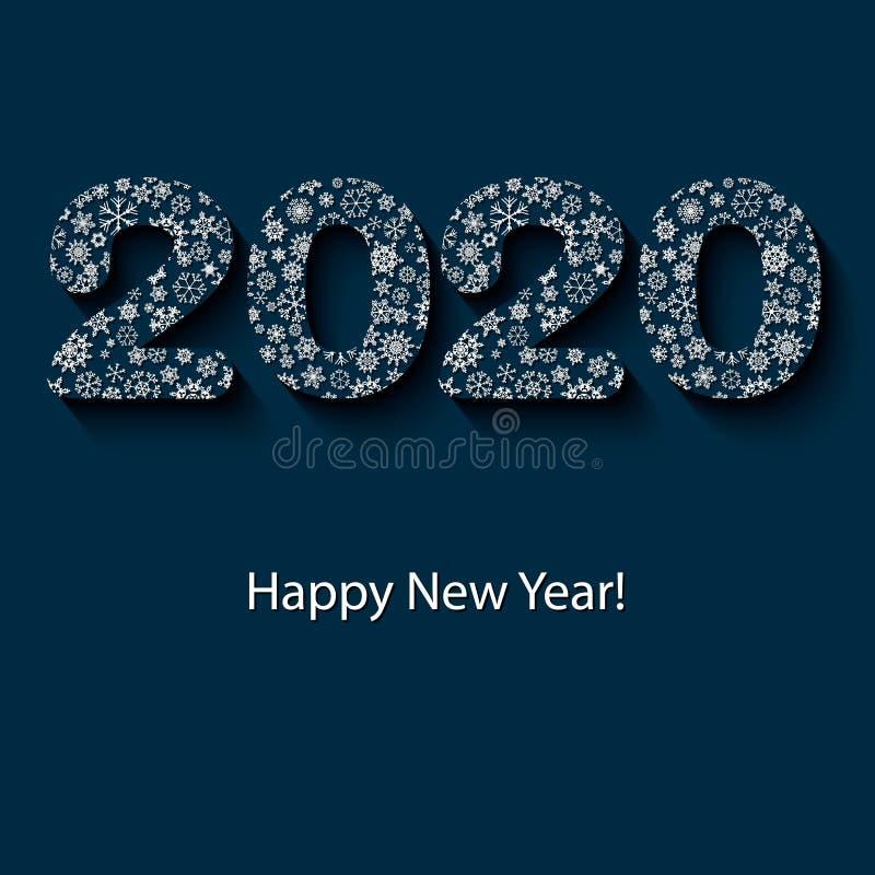 дизайн 2020 на Новый Год стоковая фотография