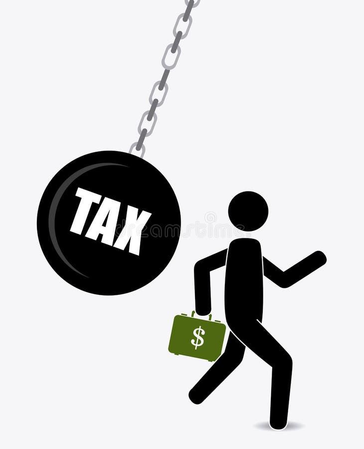 Дизайн налогов иллюстрация вектора