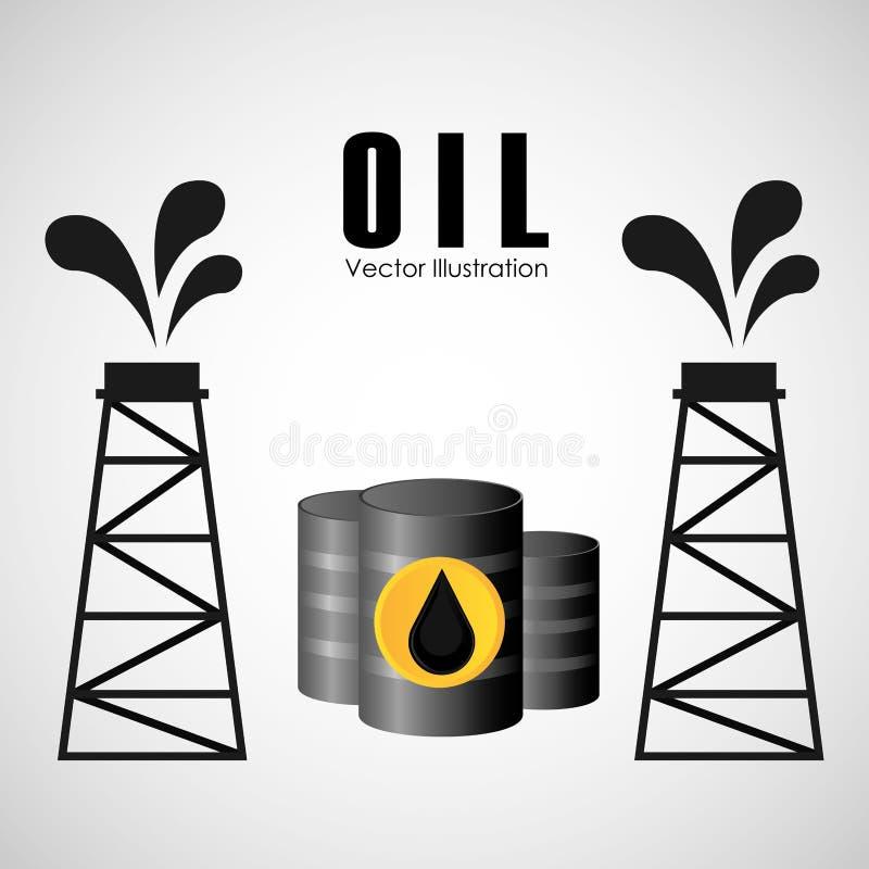 Дизайн нефтедобывающей промышленности иллюстрация вектора
