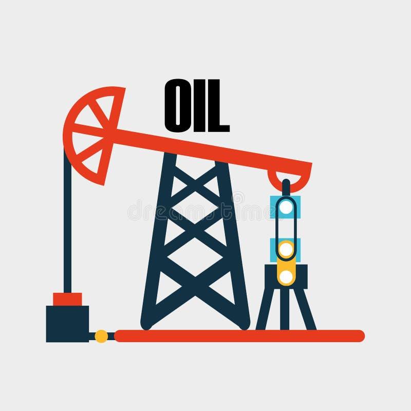 Дизайн нефтедобывающей промышленности бесплатная иллюстрация