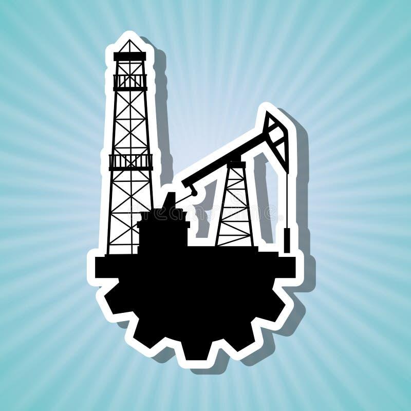 Дизайн нефтедобывающей промышленности иллюстрация штока
