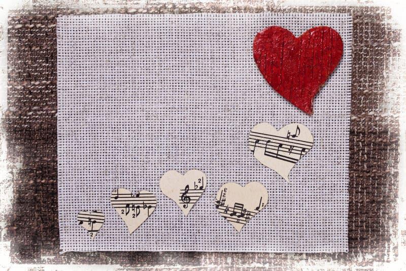 Дизайн обоев предпосылки влюбленности музыки сердца стоковое изображение