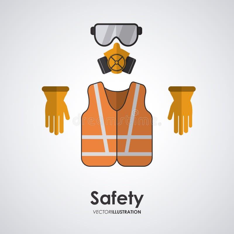 Дизайн оборудования для обеспечения безопасности иллюстрация вектора