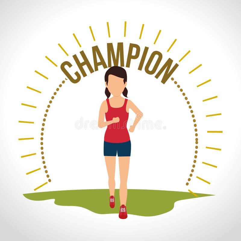 Дизайн образа жизни фитнеса healthty бесплатная иллюстрация