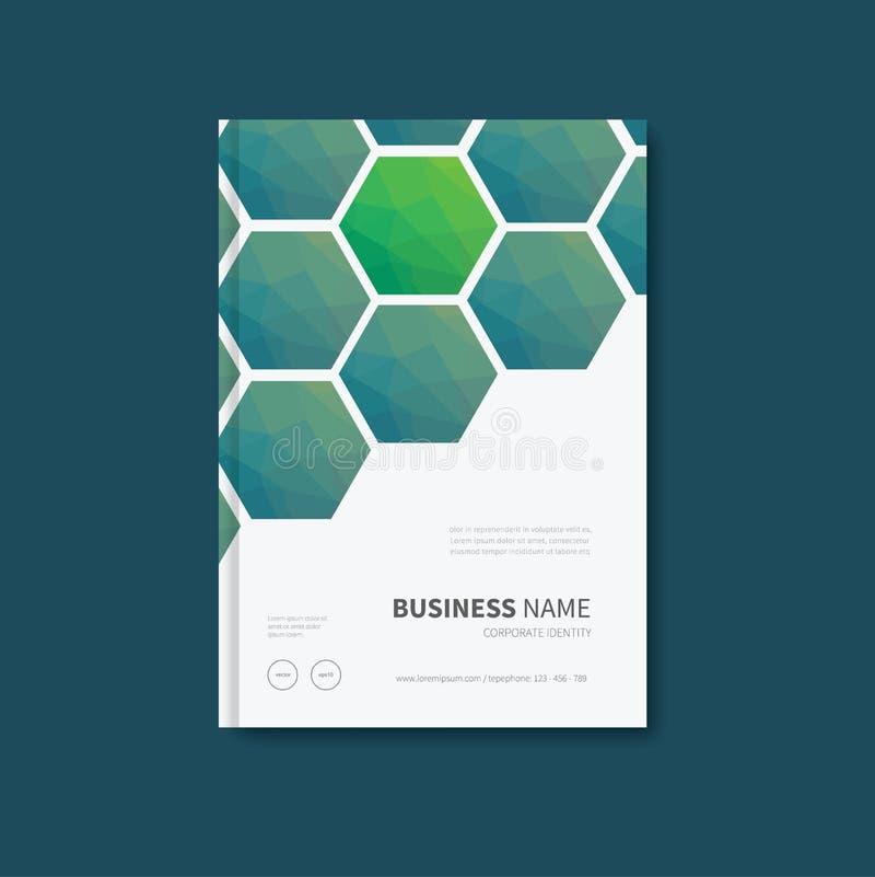 Дизайн обложки книги полигона иллюстрация штока