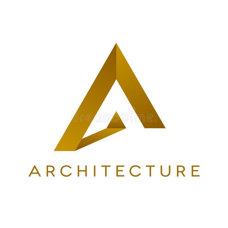 Дизайн логотипа архитектуры, изолированная иллюстрация бесплатная иллюстрация
