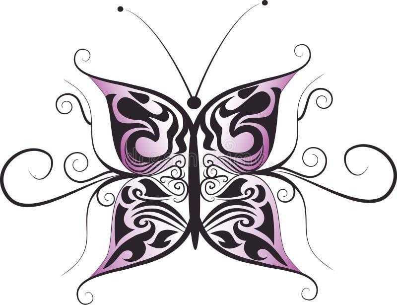 Дизайн логотипа бабочки иллюстрация вектора
