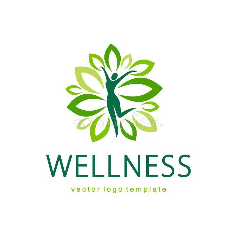 Дизайн логотипа вектора здоровья иллюстрация штока