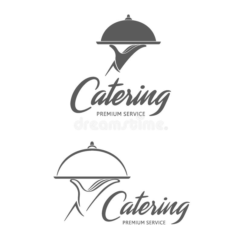 Дизайн логотипа вектора Ресторанное обслуживание стоковые фото