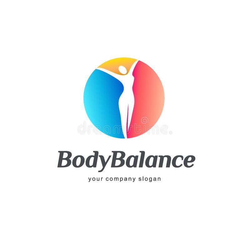 Дизайн логотипа вектора фитнеса и здоровья Баланс тела бесплатная иллюстрация