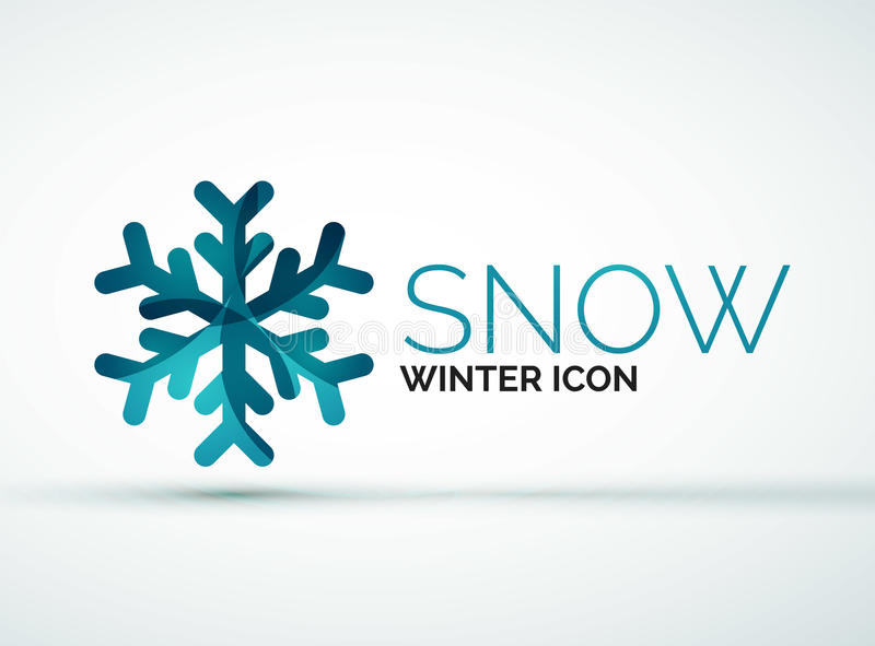 Дизайн логотипа компании снежинки рождества бесплатная иллюстрация