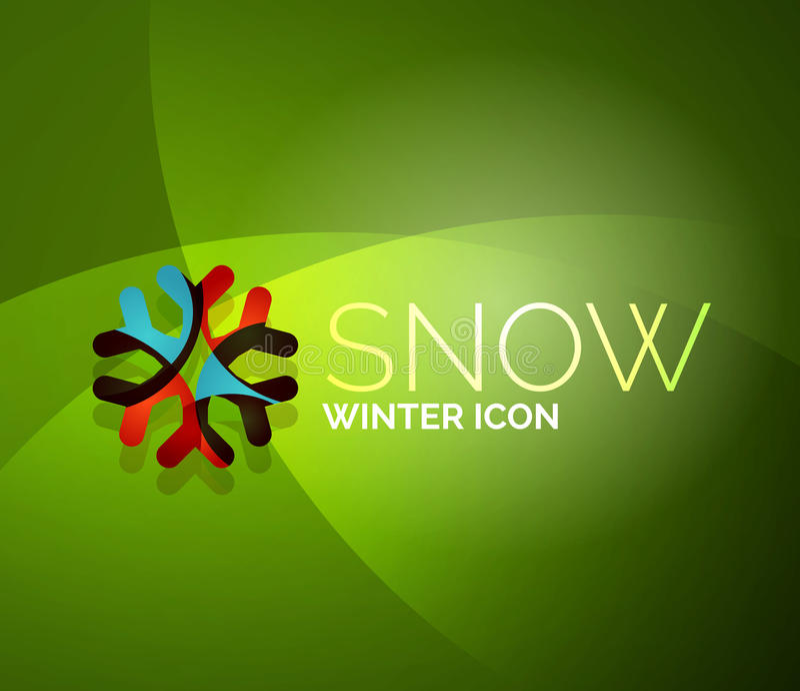 Дизайн логотипа компании снежинки рождества иллюстрация штока
